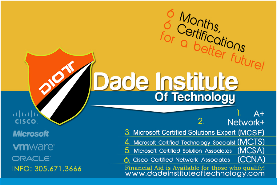 Dade Institute Of Technology Computer It Training Mcse Mcsa